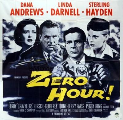 3_Zero Hour! (Six Sheet) 1957